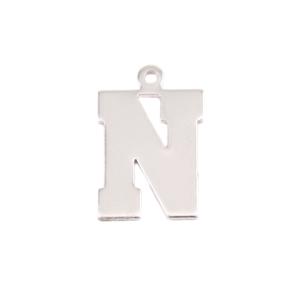 Metal Stamping Blanks Sterling Silver Letter N, 20g