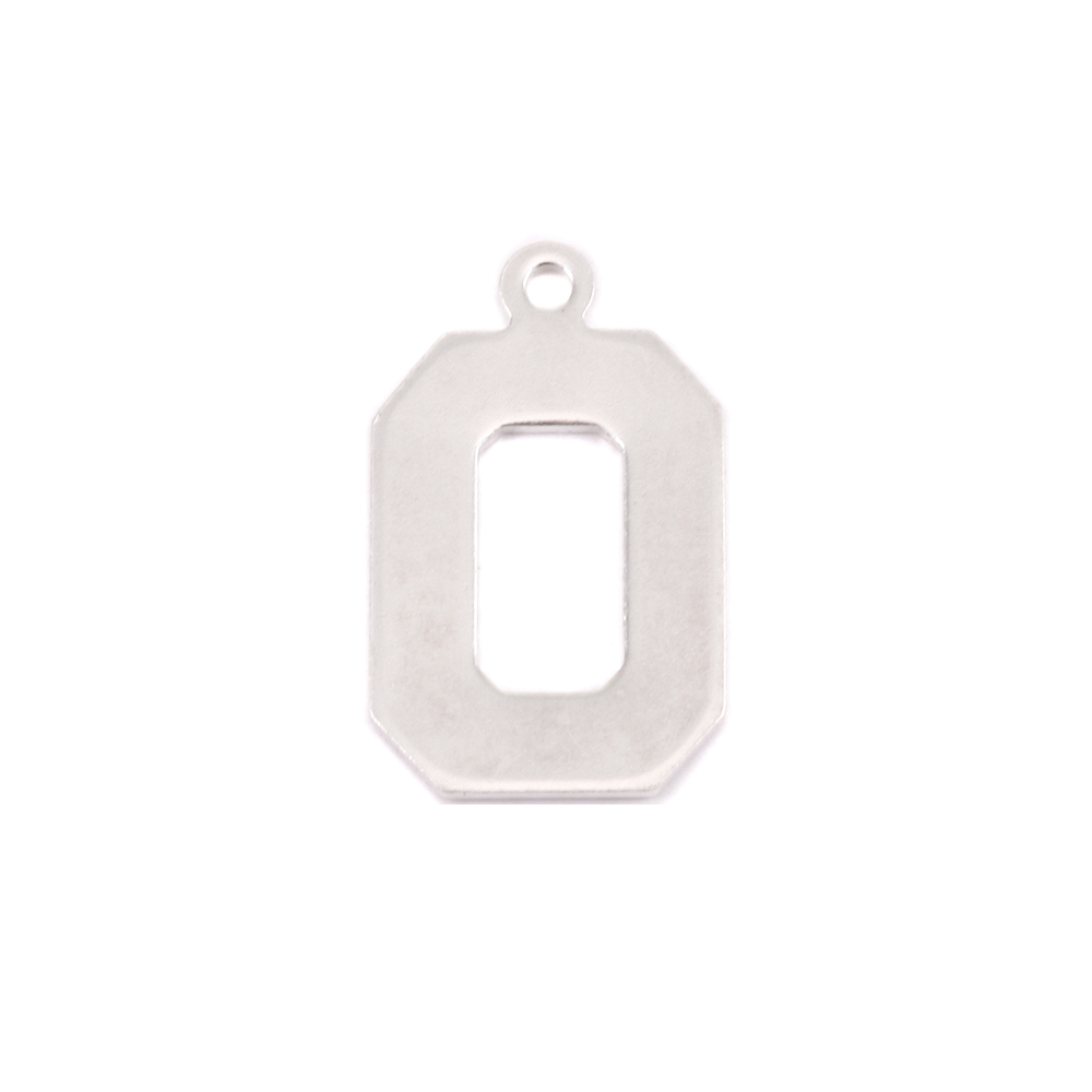 Metal Stamping Blanks Sterling Silver Letter O, 20g