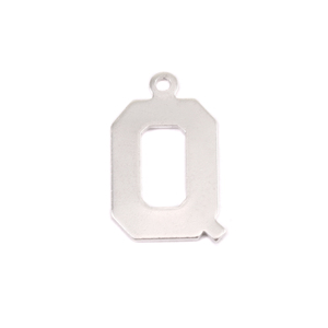 Metal Stamping Blanks Sterling Silver Letter Q, 20g