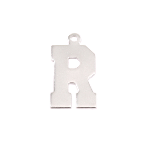 Metal Stamping Blanks Sterling Silver Letter R, 20g