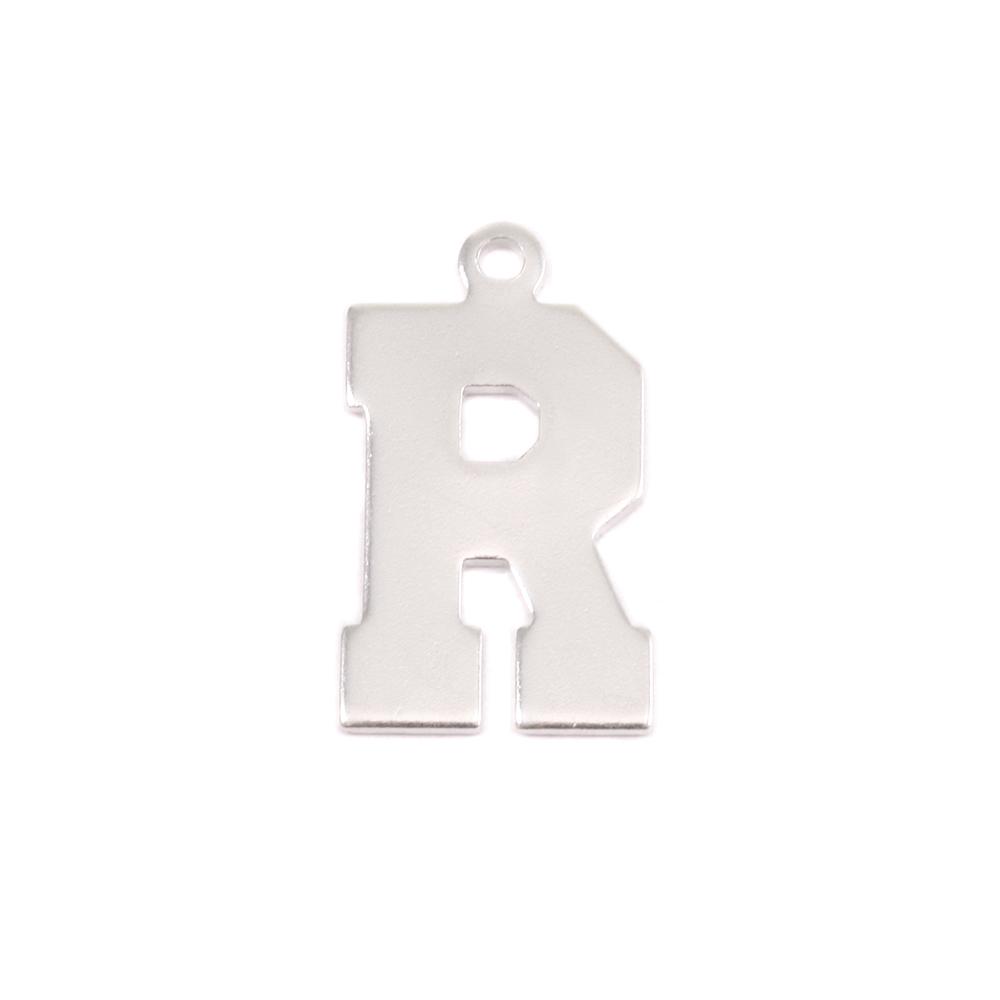 Metal Stamping Blanks Sterling Silver Letter R, 20g