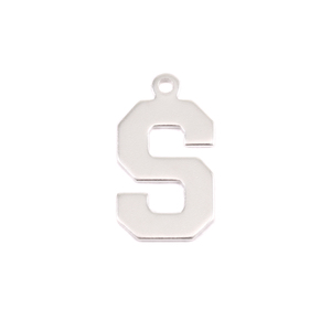 Metal Stamping Blanks Sterling Silver Letter S, 20g