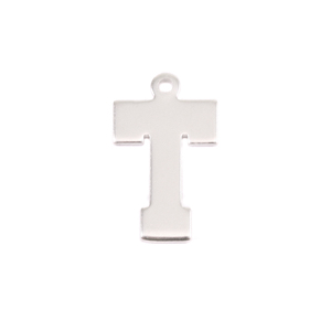 Metal Stamping Blanks Sterling Silver Letter T, 20g