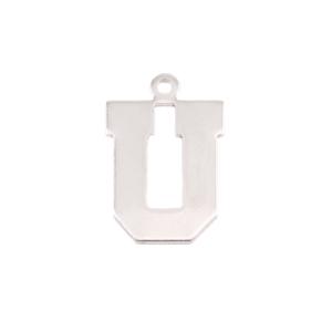 Metal Stamping Blanks Sterling Silver Letter U, 20g