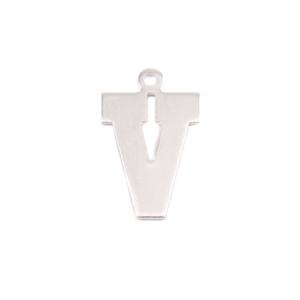 Metal Stamping Blanks Sterling Silver Letter V, 20g