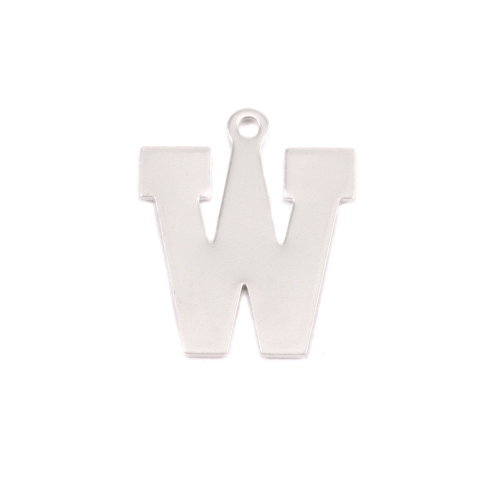 Metal Stamping Blanks Sterling Silver Letter W, 20g