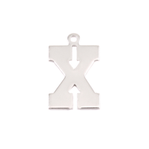 Metal Stamping Blanks Sterling Silver Letter X, 20g