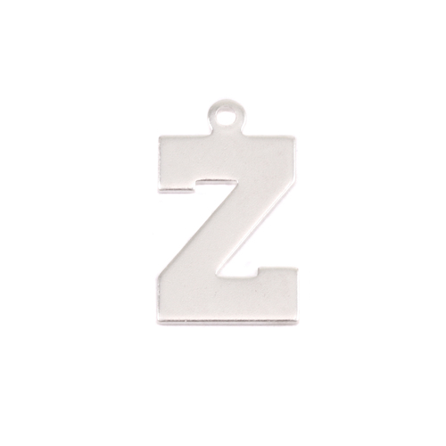 Metal Stamping Blanks Sterling Silver Letter Z, 20g