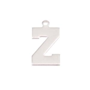Metal Stamping Blanks Sterling Silver Letter Z, 20g