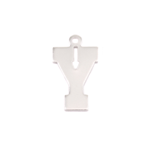 Metal Stamping Blanks Sterling Silver Letter Y, 20g