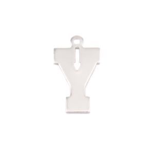 Metal Stamping Blanks Sterling Silver Letter Y, 20g