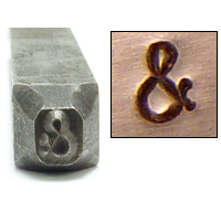 Metal Stamping Tools Ampersand '&' Design Stamp, 3/32""