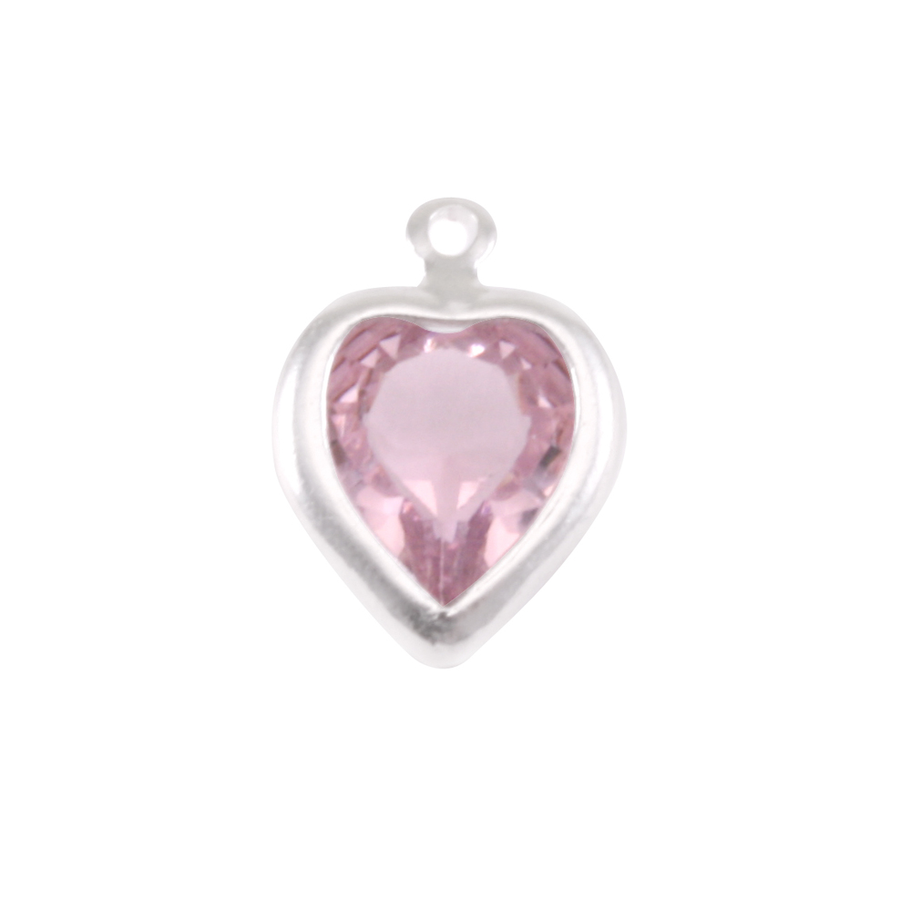 Charms & Solderable Accents Swarovski Crystal Heart Silver Charm Alexandrite (JUNE)