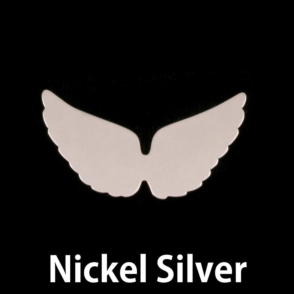 Metal Stamping Blanks Nickel Silver Wings, 24g