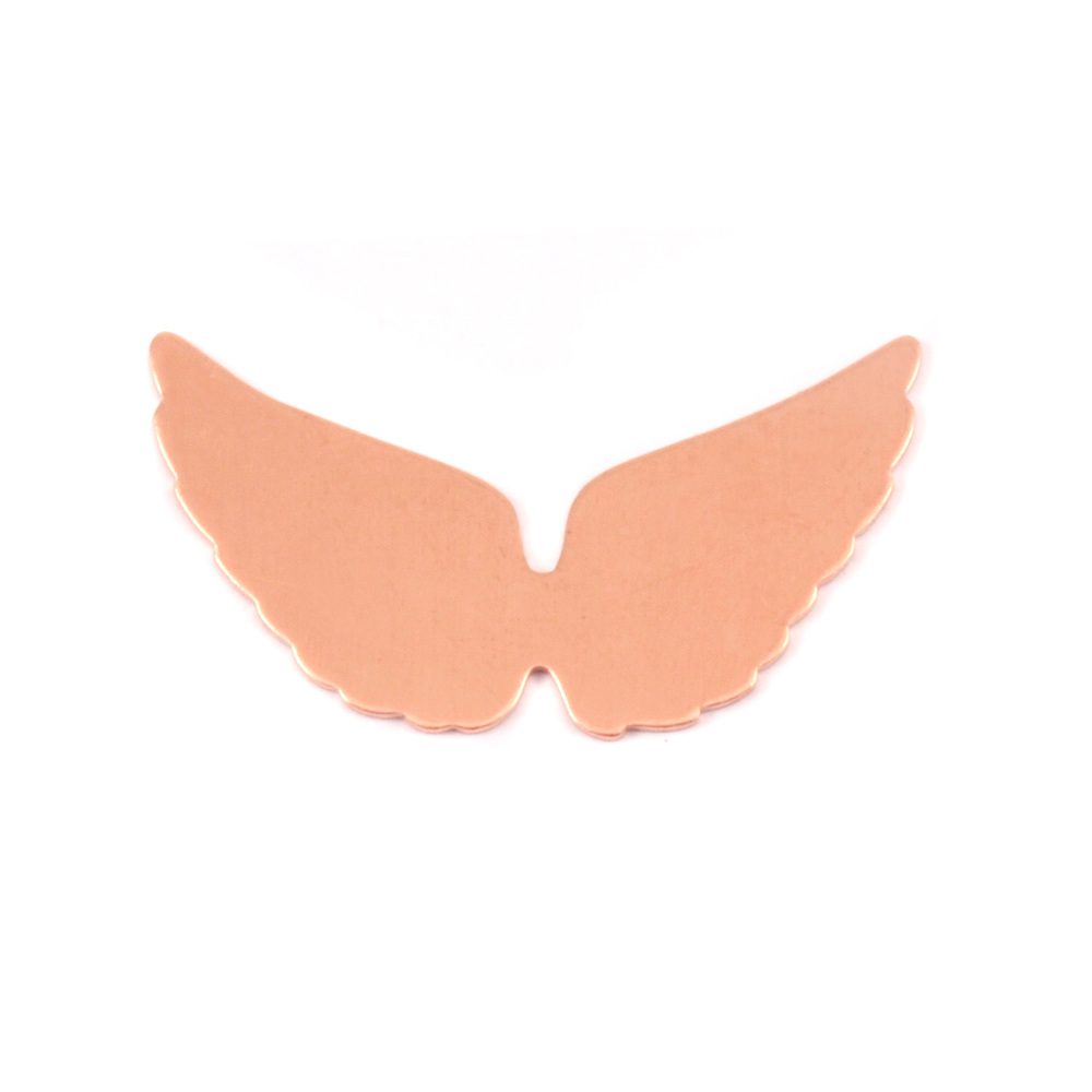 "Metal Stamping Blanks Copper Wings, 29mm (1.15"") x 16mm (.63""), 24g, Pack of 4"