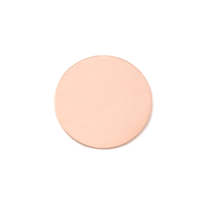 "Metal Stamping Blanks Copper Round, Disc, Circle, 16mm (.63""), 18g, Pack of 5"