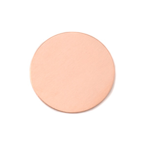 "Metal Stamping Blanks Copper Round, Disc, Circle, 22mm (.87""), 18g, Pack of 5"