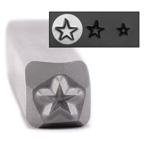Metal Stamping Tools Star Metal Design Stamp, 3.2mm - Beaducation Original