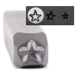 "Metal Stamping Tools Star Metal Design Stamp - 1/8"" (3.2mm)"