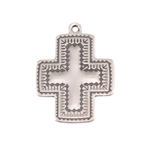 Charms & Solderable Accents Sterling Silver Southwest Cross Charm