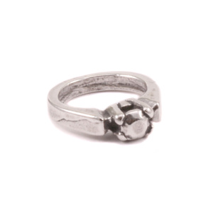Charms & Solderable Accents Sterling Silver Tiny Solitaire Ring Charm