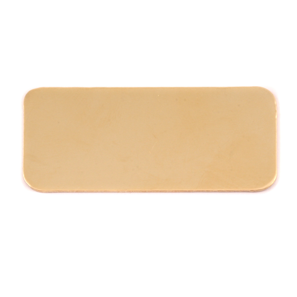 Metal Stamping Blanks Brass Rectangle Component, 24g