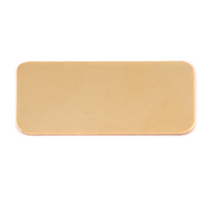 "Metal Stamping Blanks Brass Rectangle, 44.5mm (1.75"") x 20mm (.79""), 24g, Pk of 5"