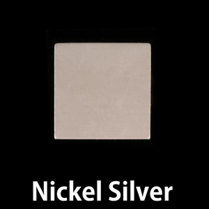 "Metal Stamping Blanks Nickel Silver 3/4"" (18.5mm) Square, 24g"