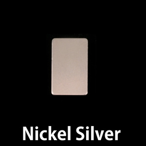 "Metal Stamping Blanks Nickel Silver Rectangle, 15mm (.60"") x 8.5mm (.33""), 24g"