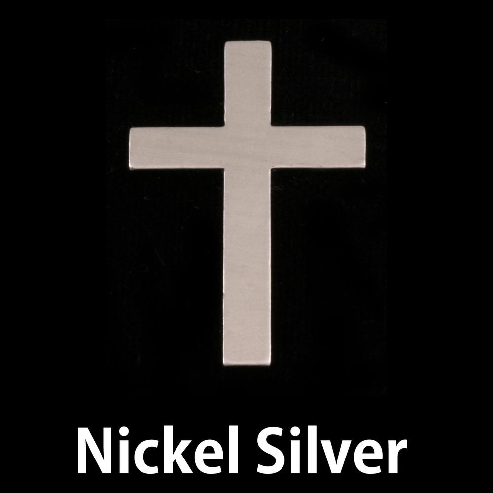 Metal Stamping Blanks Nickel Silver Cross, 24g