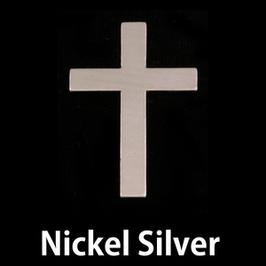 Metal Stamping Blanks Nickel Silver Cross, 24g