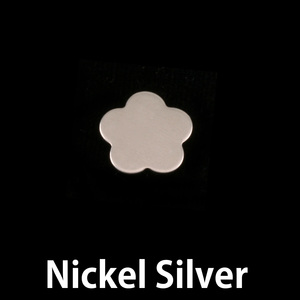 "Metal Stamping Blanks Nickel Silver Flower with 5 Petals, 10.5mm (.41""), 24g"