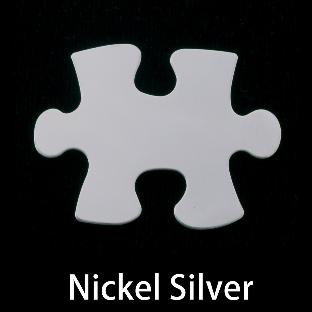 Metal Stamping Blanks Nickel Silver Puzzle Piece, 24g