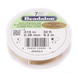 Rivets,  Findings & Stringing .015 7-Strand Gold Metallic Beadalon Stringing Wire