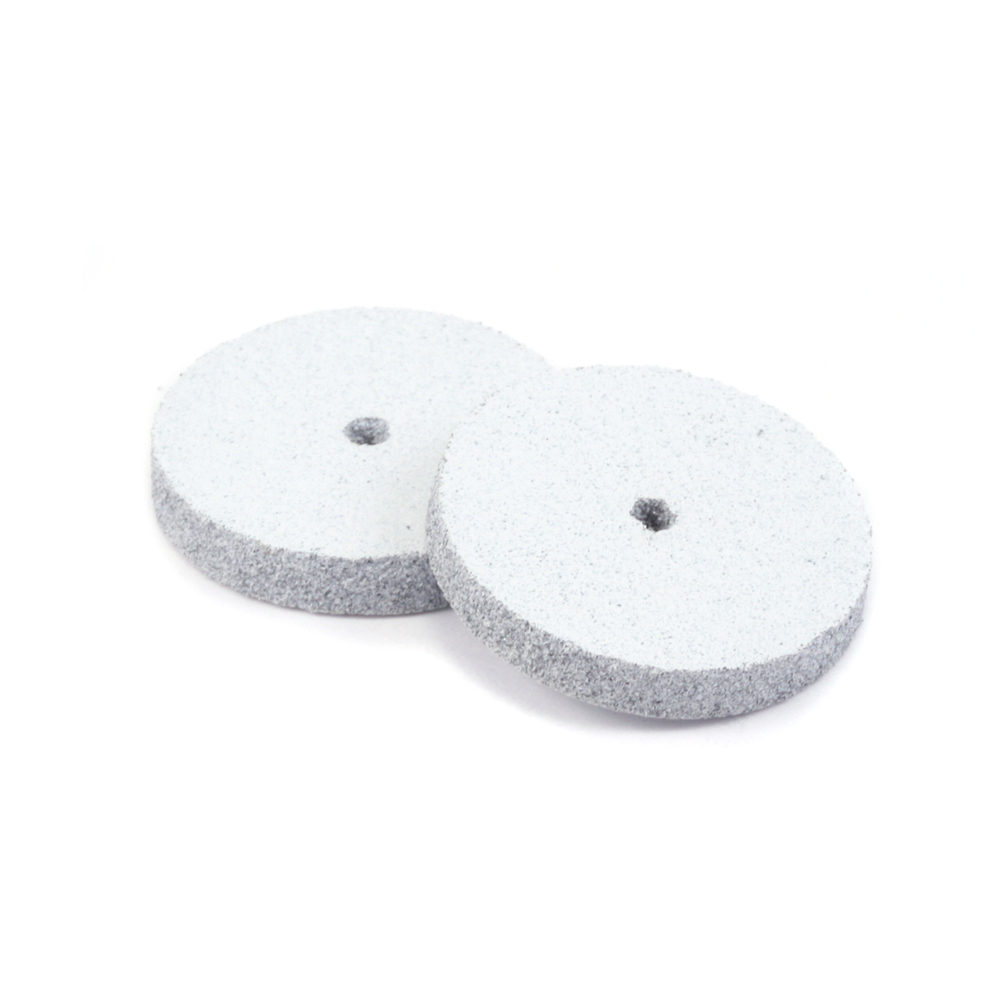 "Jewelry Making Tools Silicone Polishing Wheel, Square Edge - White 7/8"" Coarse - 2 Pack"