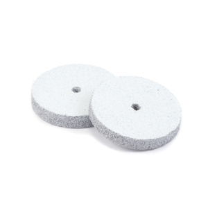 "Jewelry Making Tools Silicone Polishing Wheel, Square Edge - White 7/8"" Coarse, 2pk"