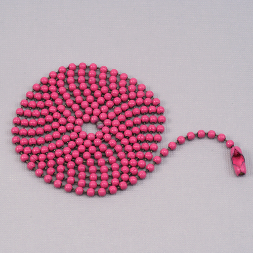 "Chain & Jump Rings Pink Ball Chain with connector, 30"" 2.4mm"
