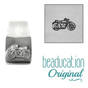 Metal Stamping Tools Motorcycle Metal Design Stamp, 8.5mm - Beaducation Original