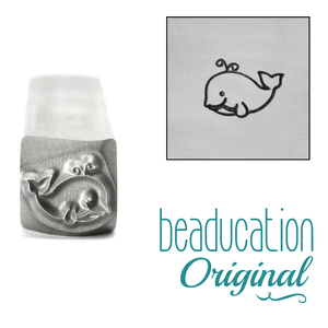 Metal Stamping Tools Whale Metal Design Stamp, 8.5mm - Beaducation Original