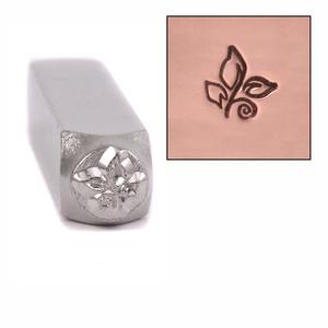 Metal Stamping Tools Leafy Spiral Design Stamp by ImpressArt