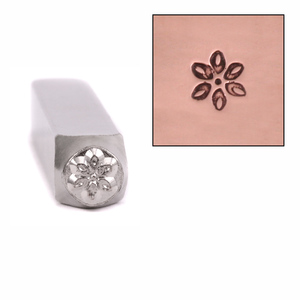 Metal Stamping Tools ImpressArt Plumeria Flower Metal Design Stamp 6mm