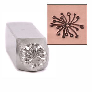 Metal Stamping Tools Fireworks Design Stamp 9.5mm by ImpressArt