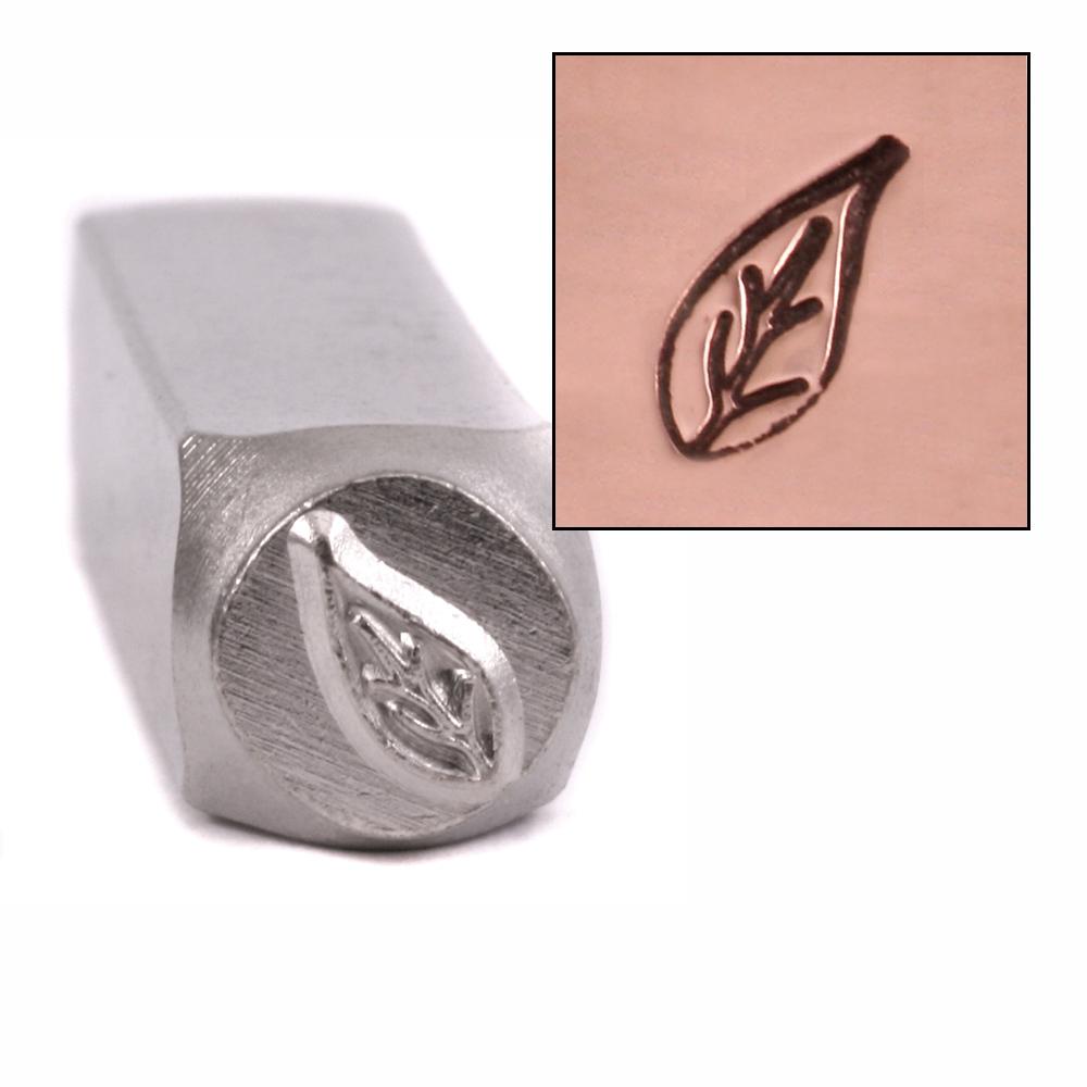 Metal Stamping Tools Pothos Leaf  Metal Design Stamp 9.5mm by ImpressArt