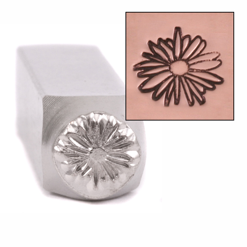 Metal Stamping Tools Echinacea Design Stamp 9.5mm by ImpressArt