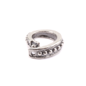 Jump Rings Sterling Silver Oval Dotted Locking Ring