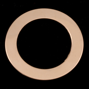 "Metal Stamping Blanks Gold Filled 1 1/4"" Washer with 7/8"" ID, 24g"