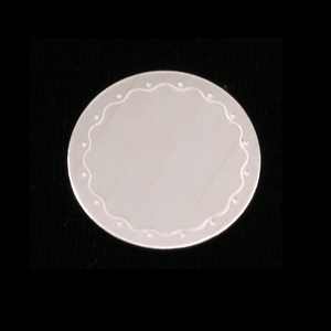 "Metal Stamping Blanks Sterling Silver Circle with Wavy Border, 19mm (.75""), 24g"