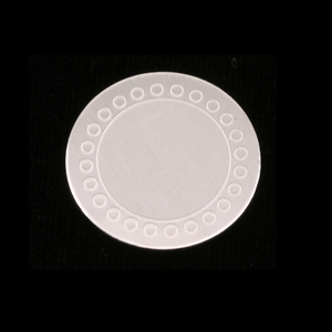 "Metal Stamping Blanks Sterling Silver Circle with Dot Border, 19mm (.75""), 24g"