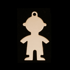 Metal Stamping Blanks Gold Filled Boy Body Silhouette Charm, 24g