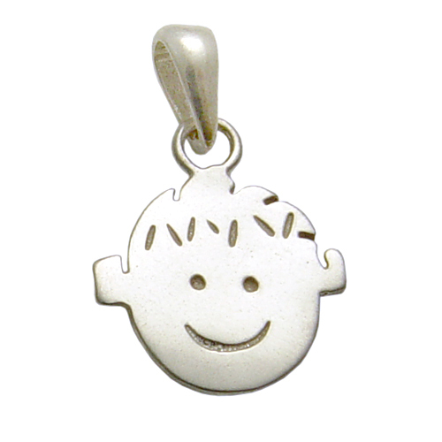 Charms & Solderable Accents Sterling Silver Boy Charm